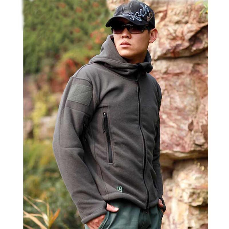 Chaqueta de ropa táctica de lana Militar de EE. UU. Chaqueta térmica al aire libre Abrigo con capucha Militar Softshell Hike chaquetas del ejército