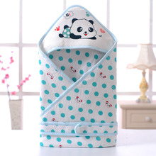 Newly Cot Baby Blanket Cotton Crib Bedding Breathable Blanket Newborn Photography Cartoon Printed Baby Swaddles