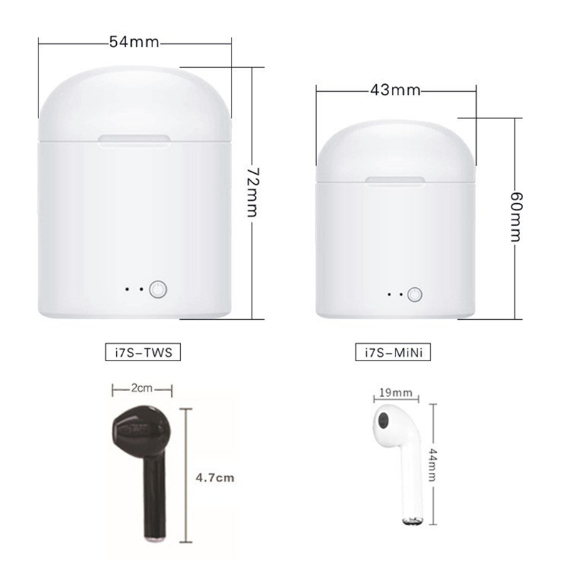 i7 mini i7s TWS Wireless <font><b>Bluetooth</b></font> Earphones Earbuds With Charge Box For iPhone 7 8 X For Samsung S8 <font><b>S9</b></font> Note 7 8 9 Xiaomi Redmi image