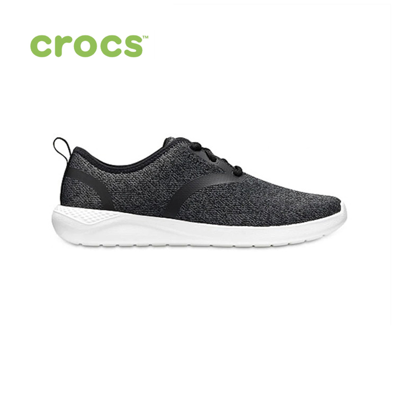CROCS LiteRide Lace M MEN for male, men TmallFS shoes sneakers high quality men low top sneakers black white casual leather shoes male plaid students streetwear lace up flats driving shoes