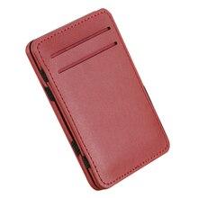 купить Slim Credit Card Holder Mini Wallet ID Case Purse Bag Pouch Black Business Pocket Card Holders Bags Case Wallet Box For Men по цене 165.43 рублей