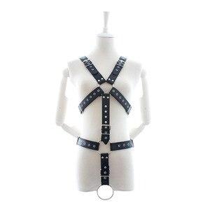 Image 5 - حزام جلد للرجال بدسم عبودية باستيل قوط فانتازي سيكس gg حزام قوطي بانك ملابس حفلات الزفاف