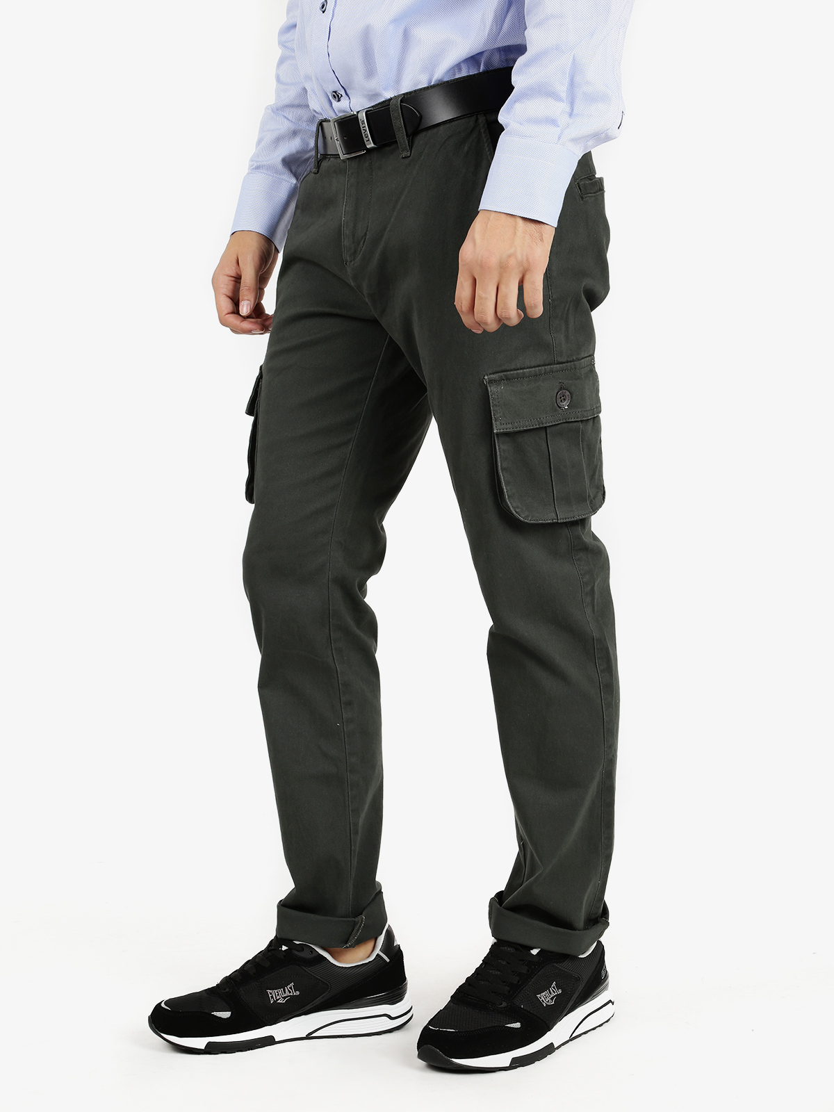 Cargo Pants Stretch Cotton-Green