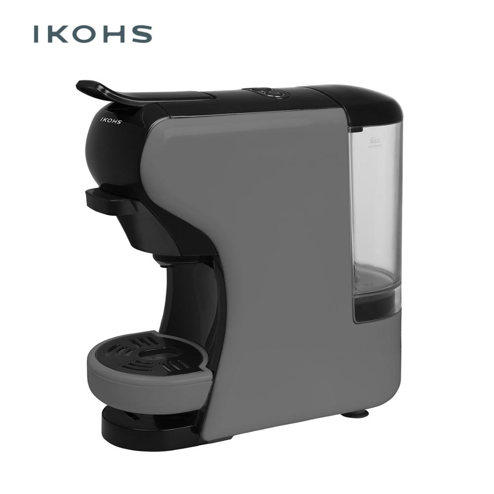 IKOHS POTTS Automatic Coffee Machine Express Grey Color Capsules Of Dolce Gusto Nespresso And  For Ground Coffe 0.7L 1450W