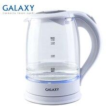 Чайник электрический Galaxy GL 0553 (мощность 2200 Вт, объем 1,7 л, подсветка, корпус из стекла, отсек для хранения шнура)
