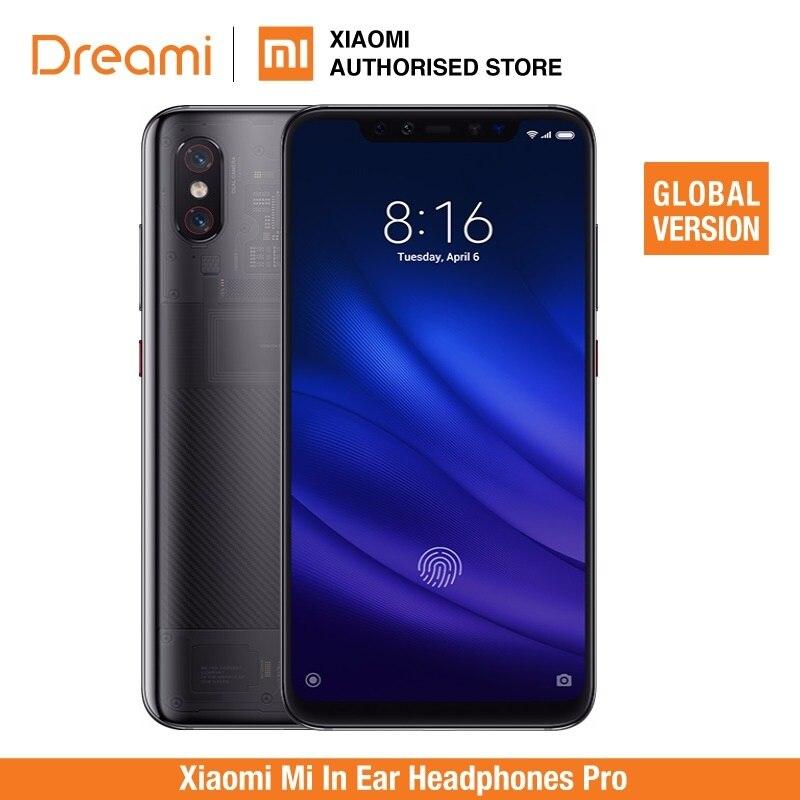 Version mondiale Xiao mi 8 Pro 128 GB ROM 8 GB RAM titane Transparent (Rom officielle)