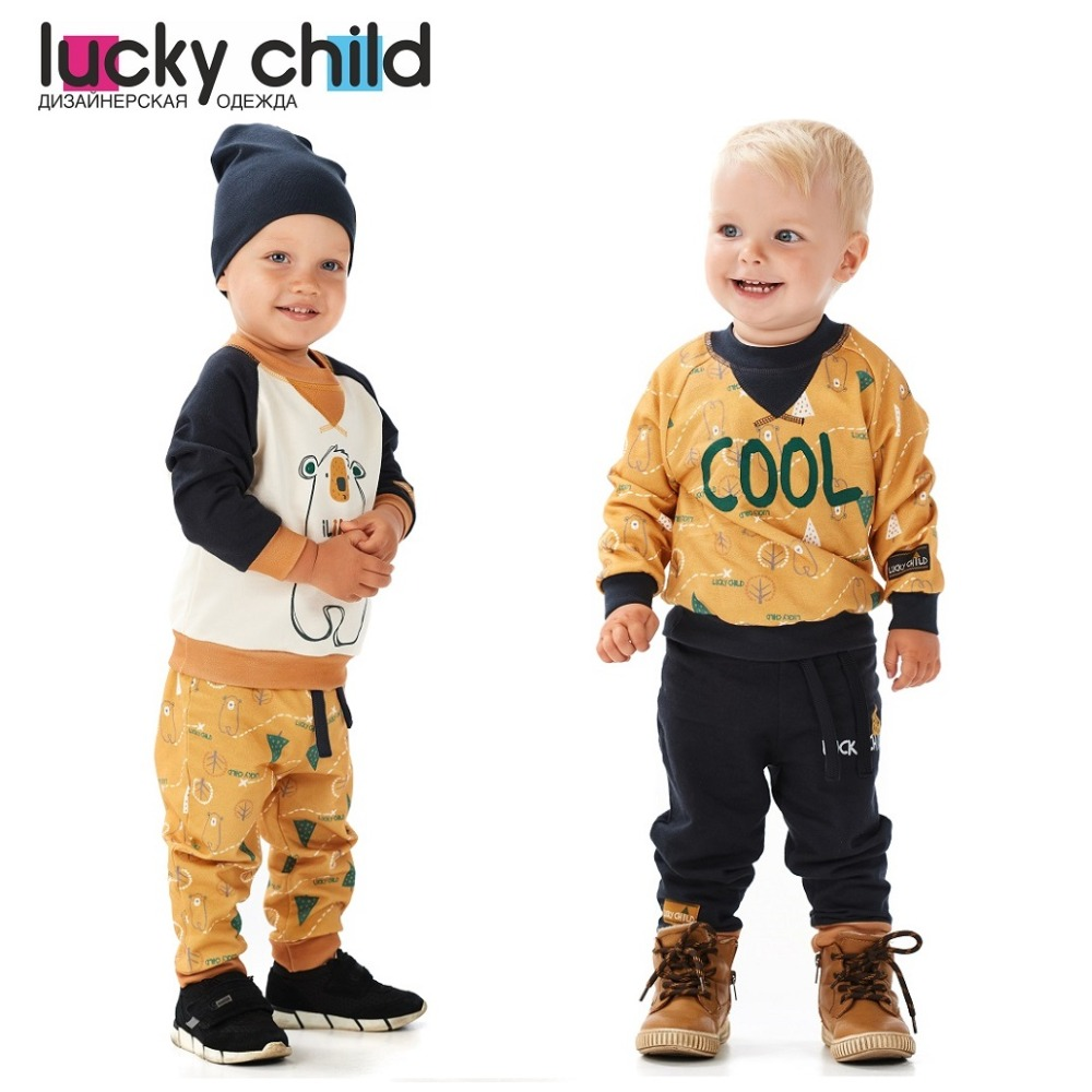 Hoodies & Sweatshirt Lucky Child for boys 63-16f Kids Baby clothing Children clothes Jersey Blouse [available with 10 11] vest jersey for boys