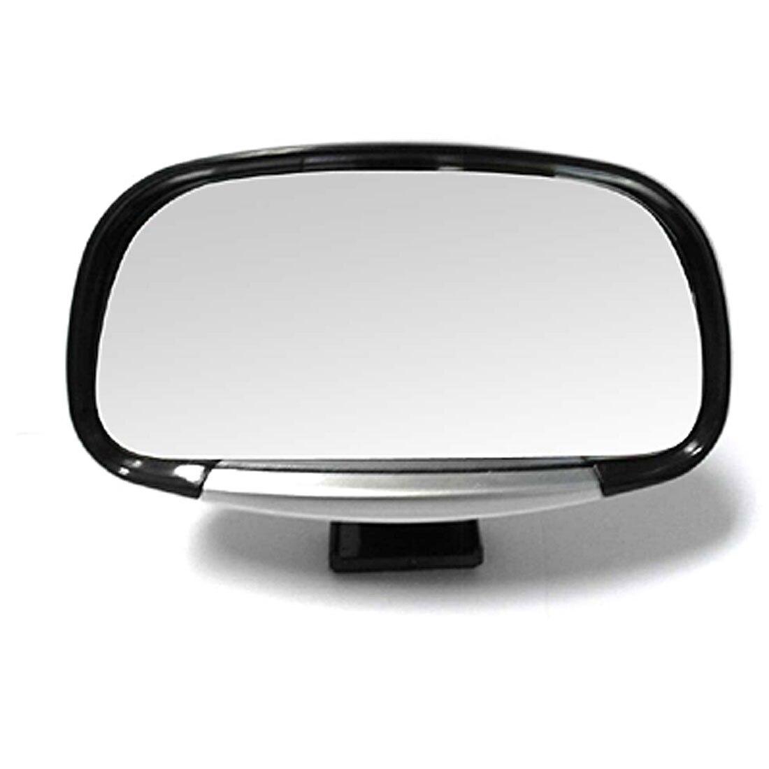 UXCELL Revolving Convex Car Rear View Blind Spot Mirror Black (3R-081)