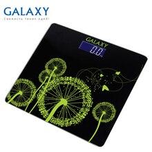 Весы напольные Galaxy GL 4802 (Максимальная нагрузка до 180кг, точность измерения 100 грамм, LCD-дисплей, ультратонкий дизайн, автовкл/откл, сверхточная сенсорная система датчиков)