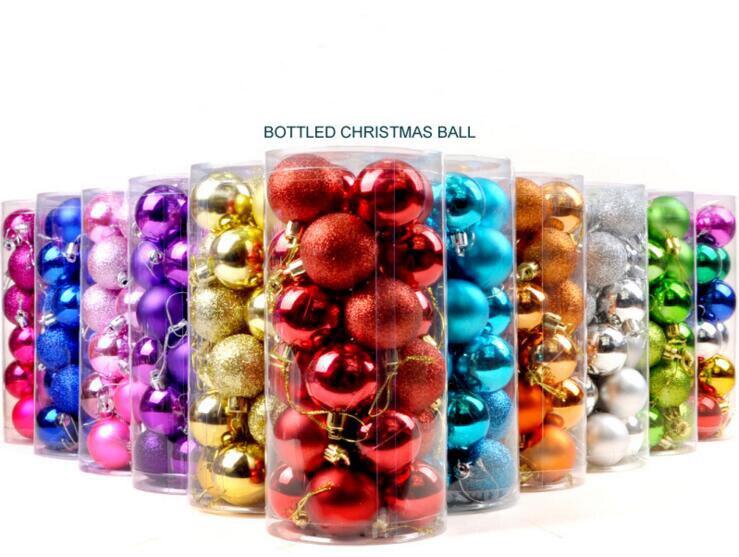 Christmas Tree Balls Diameter 4cm Powder Mirror ...