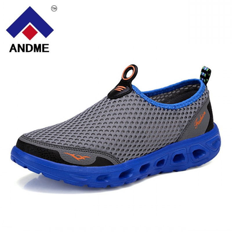 Men Shoes 2018 Fashion Brand Mesh Shoes High Quality Breathable Slip on Summer Casual Shoes цена