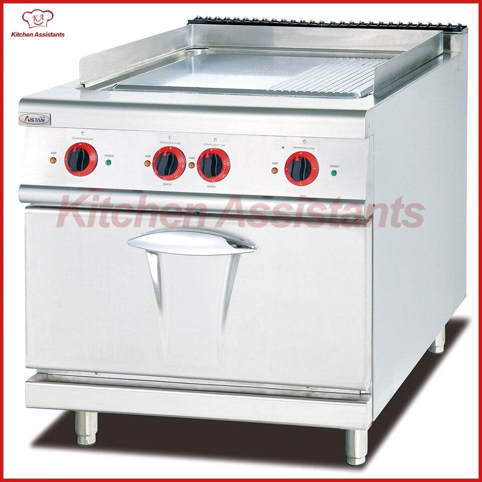 Eh786a Elektrische Kochplatte Mit Backofen 1/3 Gerillt Catering Ausrüstung Grade Produkte Nach QualitäT