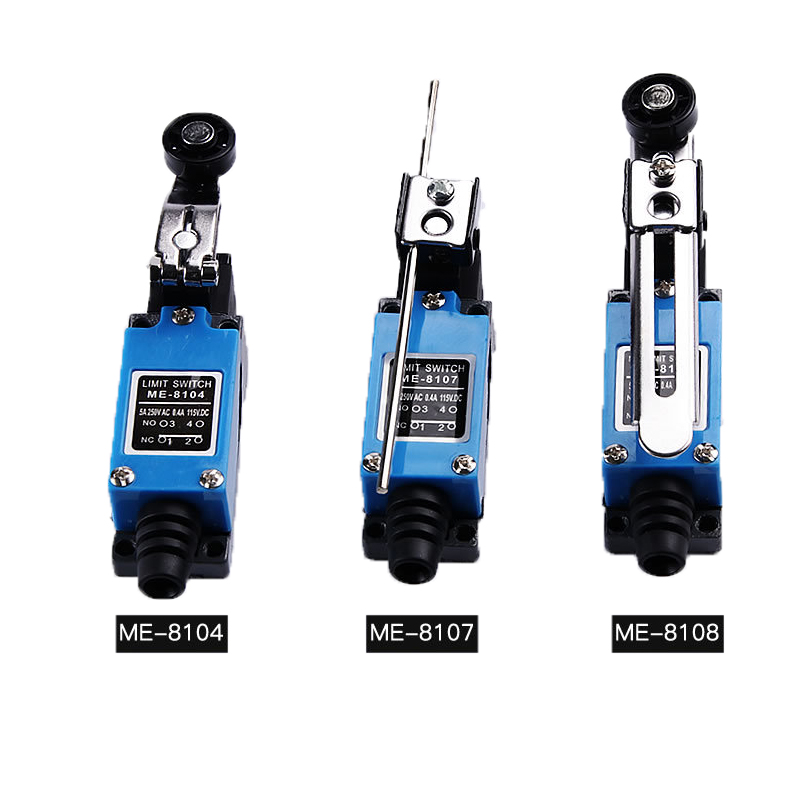 2x ME-8108 Adjustable Roller Lever Arm Limit Switch NC-NO CNC Mill Router