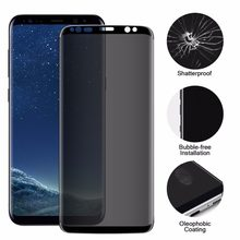 Full Coverage Screen Film Privacy 3D Tempered Glass For Samsung Galaxy Note 8 S8 / S8 Plus Anti Glare Protection Shield Glass(China)