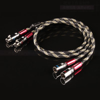 1 pair British QED silver plated Condenser microphone cable Card XLR audio cable HiFi XLR balanced cable