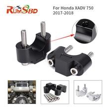 Riser For Honda XADV 750 X-ADV X ADV 2017-2018 Motorcycle Parts 28mm Handlebar Handle Raiser Aluminum 1 Pair Black Silver