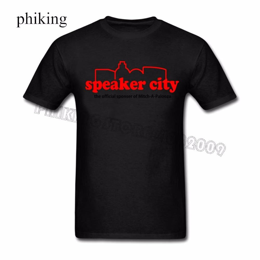 Old School Speaker City Tees Shirt Men Boy Rock Custom Short Sleeve Valentines 3XL Party T-shirts