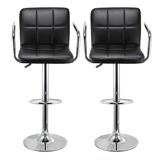 Groovy Jeobest 2Pcs Synthetic Adjustable Swivel Bar Stool Stainless Steel Pneumatic Stent Chair Nordic Furniture Hwc In Bar Chairs From Furniture On Forskolin Free Trial Chair Design Images Forskolin Free Trialorg