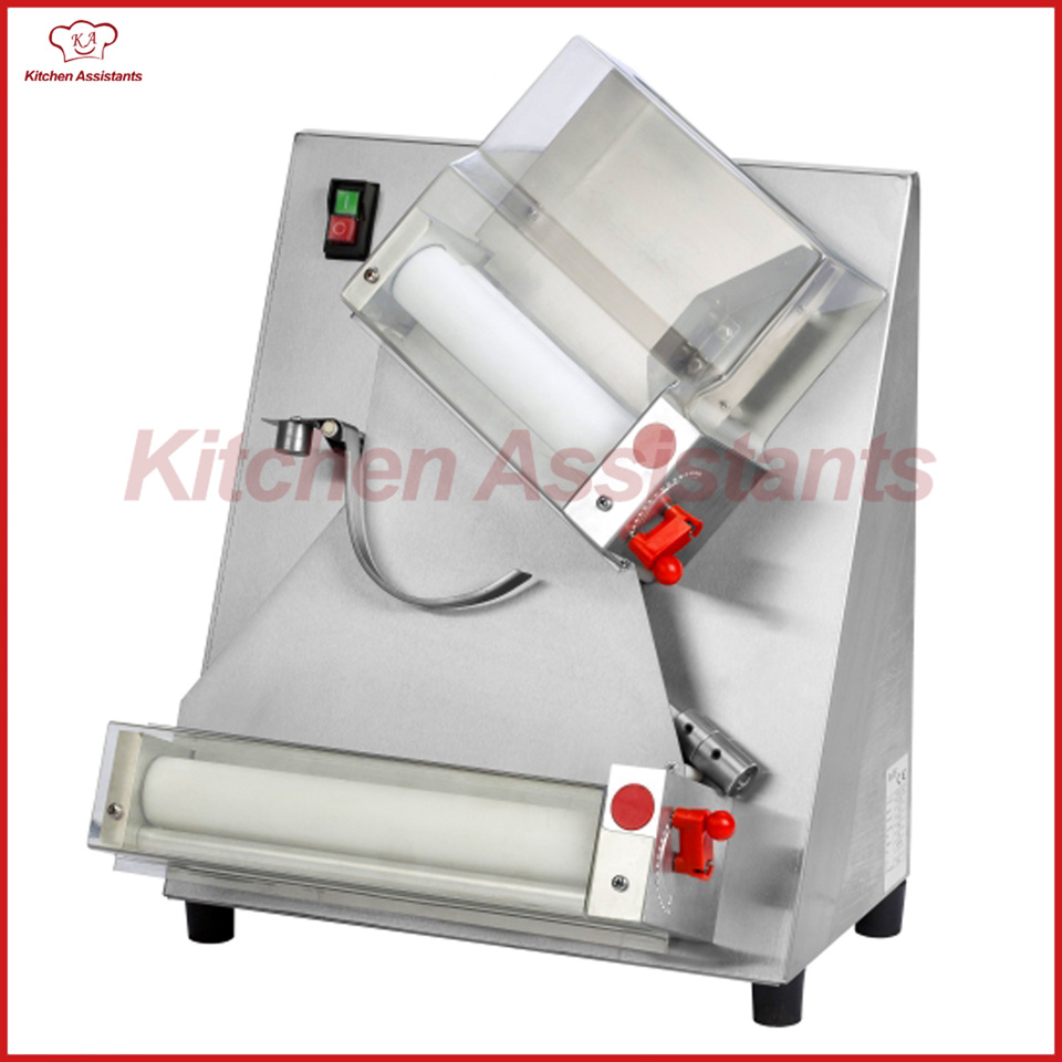 DR2A electric commercial whole stainless steel automatic pizza maker/dough roller/dough sheeter machine new premium high quality stainless steel commercial dough ball making machine automatic dough divider rounder for small business