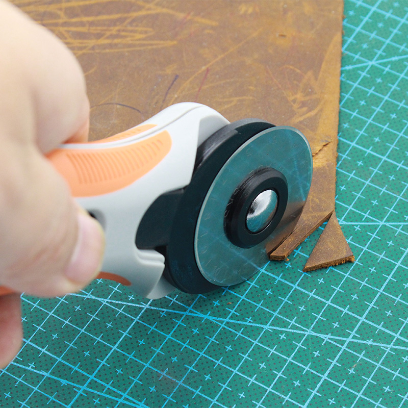 45mm Rotary cutter leather Tools cutting fabrics cotton paper various soft Stainless Steel Blade DIY With Safe Lock Button