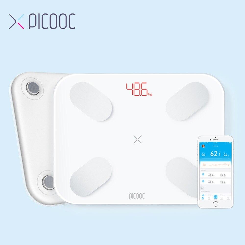 PICOOC S1 весы весовые шкалы цифровые весы с определением жира в организме весы для ванной пол Электронные напольные весы для здоровья с APP