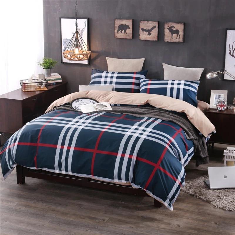 Homesoft 100 Washed Cotton Muji Bedding Set High Quality Soft Comfortable Duvet Cover Bed Sheet Pillowcase King Queen Full Size Duvet Cover Bedding Setmuji Bedding Aliexpress