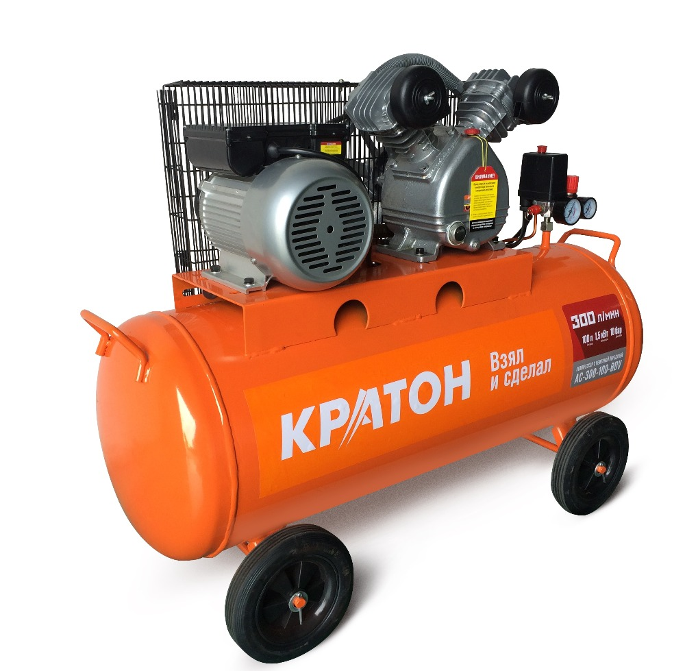 Compressor KRATON with belt transmission AC-300-100-BDV вольтметр ac 80 300 100