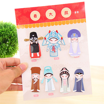 4834 wholesale creative Chinese classical elements of Beijing opera drama Mini wind into the 7 set of bookmarks image