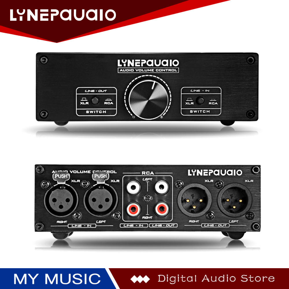 2 Input 2 Out Audio Switch Volume Adjuster Volume Control Fully Balanced Passive Front Active Speaker Volume Control in Speaker Accessories from Consumer Electronics