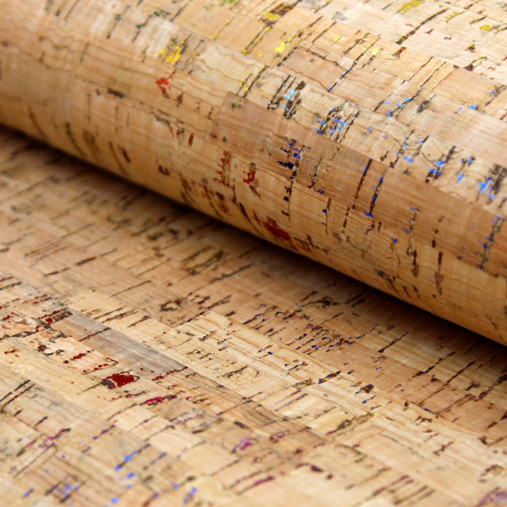 PORTUGAL cork fabric 68*50cm/26.7*19.6inch Colorful rainbow Vegan cork leather waterproof ABRASION resistance fabric COF-160 стоимость