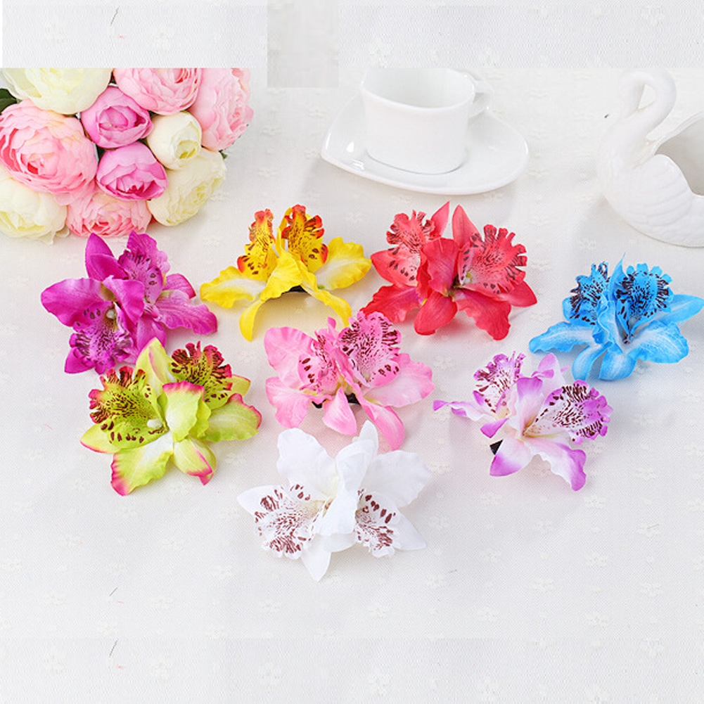 8 Colors 2017 Bohemia Style Orchid Peony Bridal Flowers Hair Clips Hairpins Barrette For Wedding Decoration Hair Accessories women girl bohemia bridal peony flower hair clip hairpins barrette wedding decoration hair accessories beach headwear