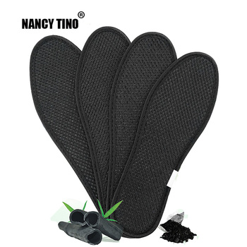 NANCY TINO Unisex Bamboo Charcoal Deodorant Cushion Foot Inserts Shoe Pads Sports Breathable Anti-Bacterial Comfortable Insoles