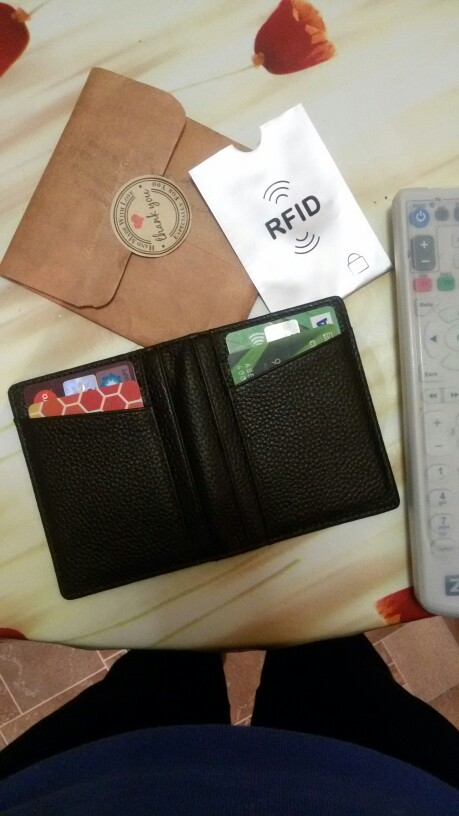 Mode Echt leer Paspoort Portemonnee RFID Visitekaarthouder Man Bank ID Creditcard Houders Beschermhoes Unisex koffie photo review