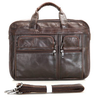 Men's Briefcase Genuine Leather Briefcases Bag 15Laptop Bag men Tote Business Case Male Office Work Business Double Layer Bag