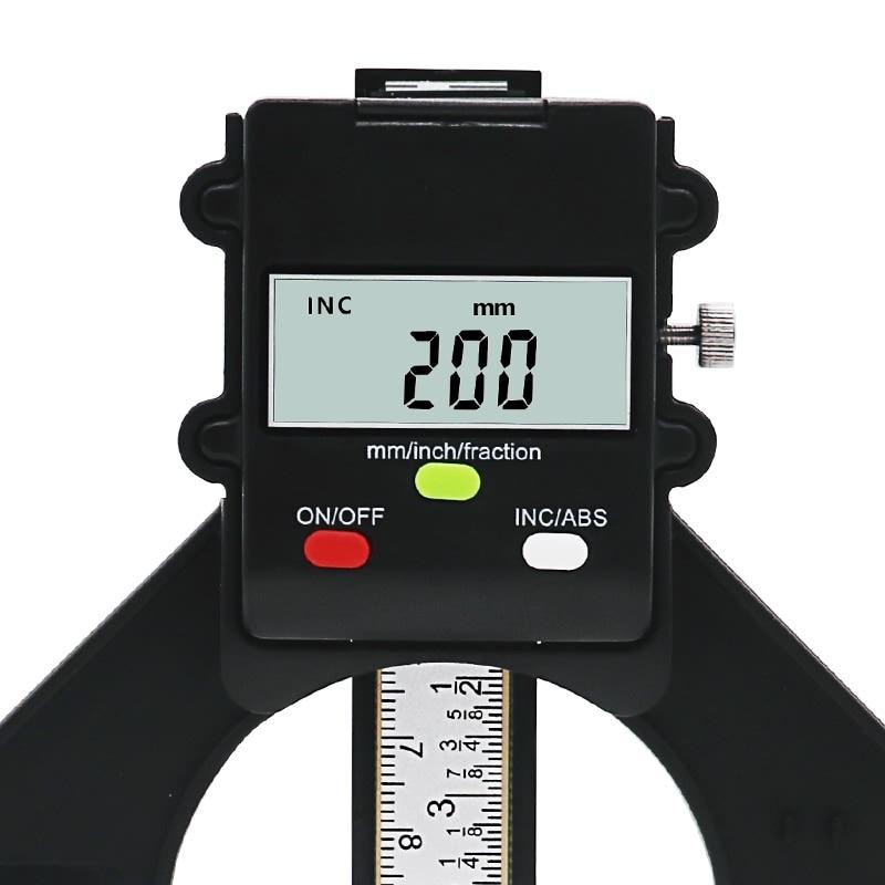 QSTEXPRESS Digital Depth Gauge Digital Tread Depth Gauge LCD Magnetic Self Standing Aperture 80mm Hand Routers