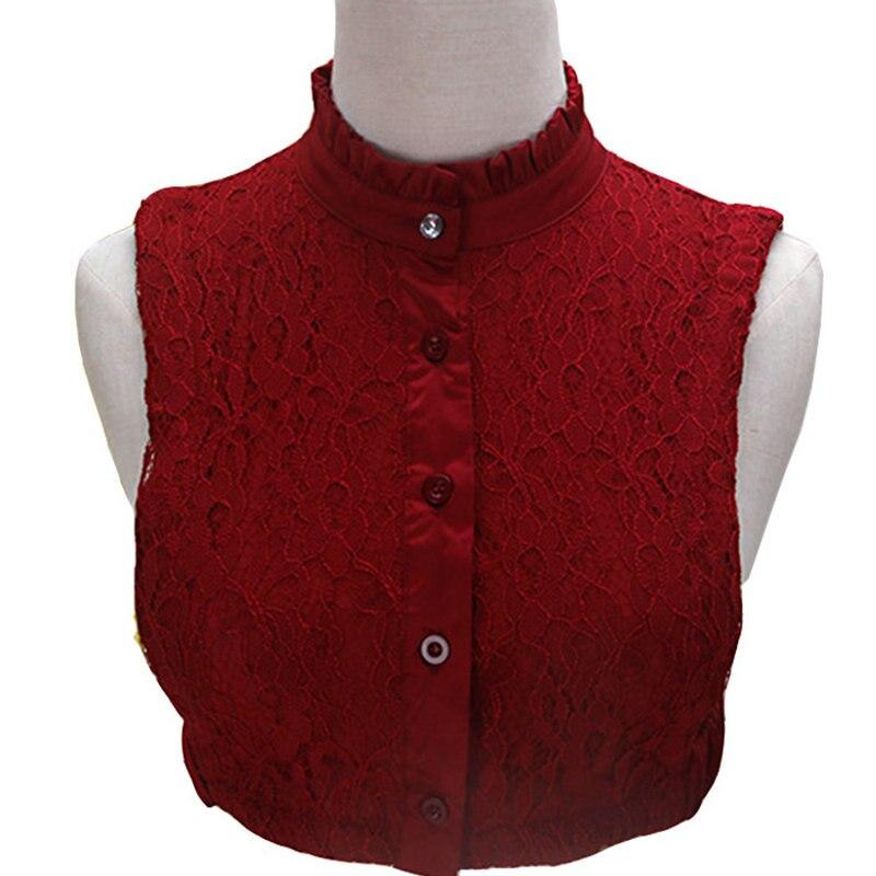 [La MaxPa] Wholesale Retial New Fashion Lace False Collar Ladies All-Match Adjustable Elastic Detachable Shirt Fake Collars