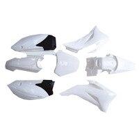 Plastic Kit White Rubber Frame Accessories Plastic Kit Fender Farings for TTR 110cc Dirt Pit Bikes Body Motorcycle