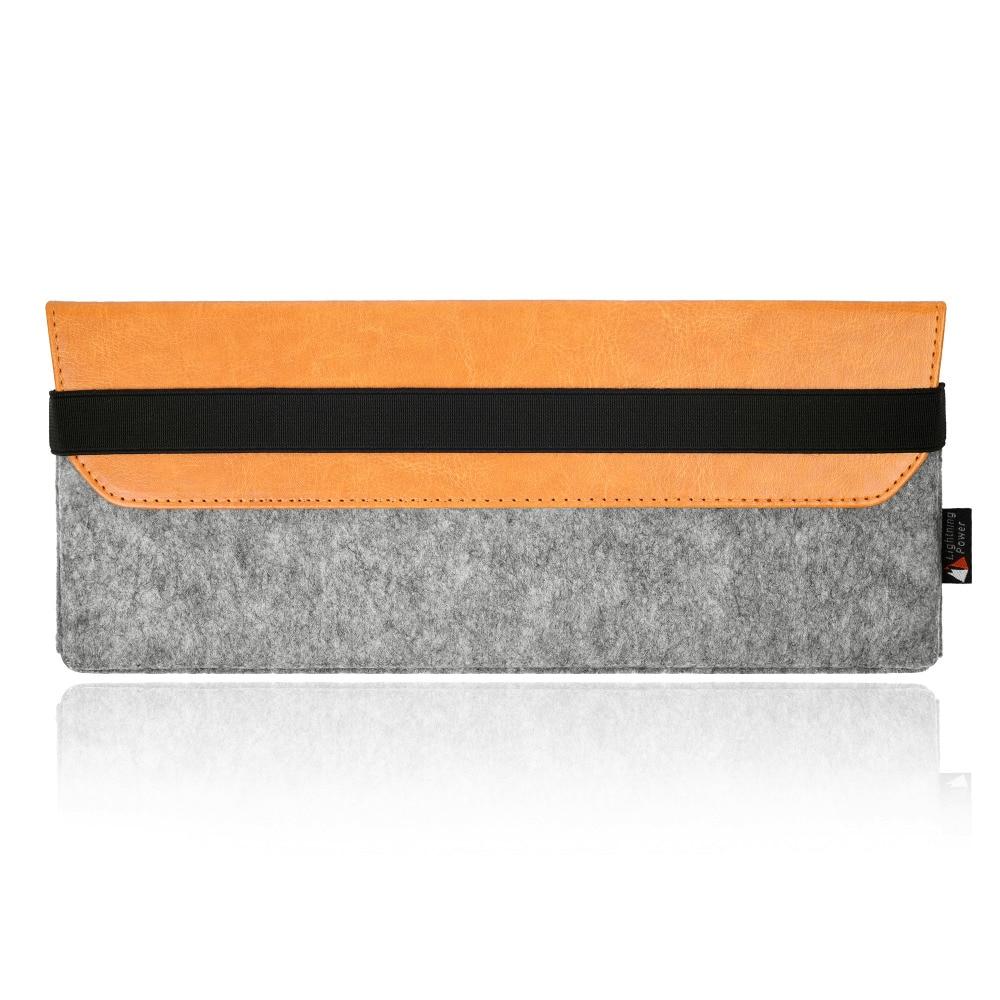 Premium Felt PU Leather Protection Sleeve bag case pouch for Apple Magic Keyboard MLA22LL/A dustproof waterproof storage box