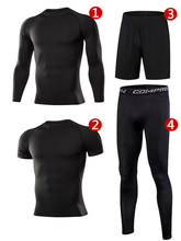 Men Sportswear Compression Sport Suits Quick Dry Running Sets Clothes Sports Joggers Training Gym Fitness Tracksuits Running Set quick dry men s running sets 2 pieces sets compression sports suits men basketball tights clothes gym fitness jogging sportswear