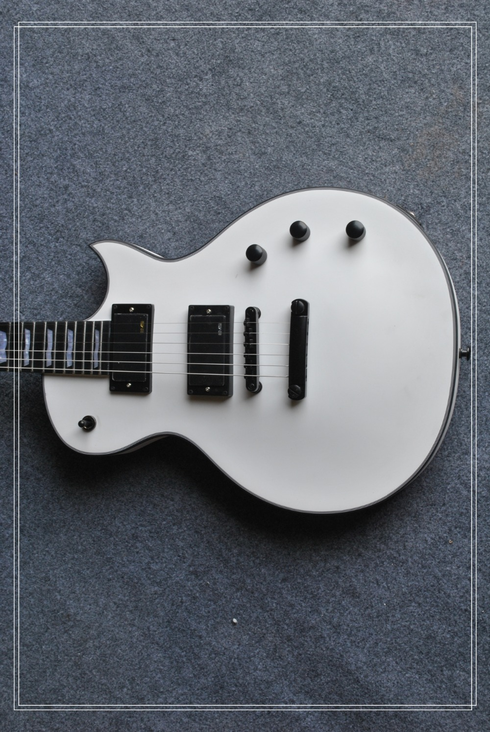 2017 Factory + Satin white ESP Eclipse electric guitar flag inlays ESP custom shop elipse guitar Free Shipping ESP Guitar factory custom shop 2015 newest arrival custom st vintage white electric guitar gold hardware free shipping with case 1 6