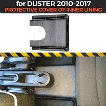 Couvercle de protection pour Renault / Dacia Duster 2010 2017 de la deuxième tunnel intérieur, en plastique ABS, protection de tapis