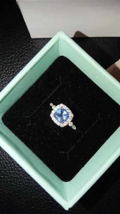 Sky Blue Aquamarine Topaz Ring photo review