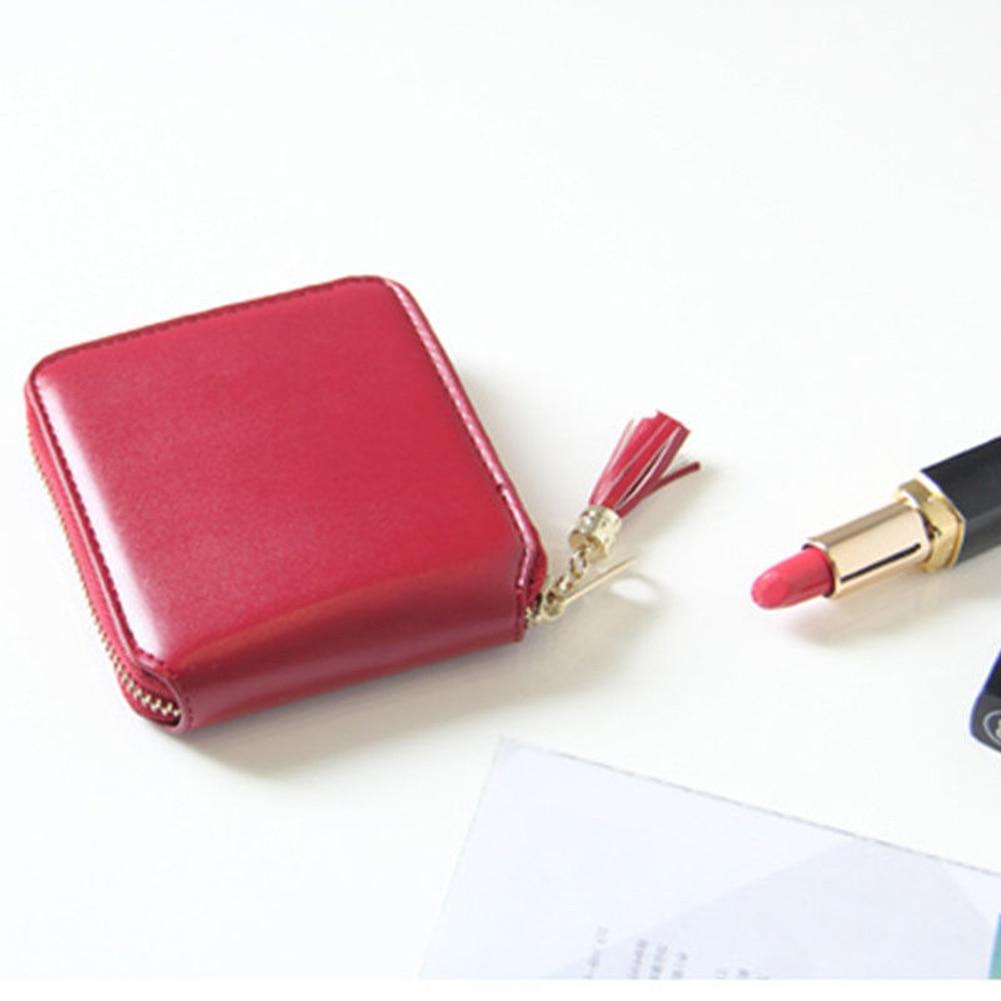 Fashion Women Faux Leather Short Bifold Zipper Wallet Mini Card Holder Purse zelda wallet bifold link faux leather dft 1857