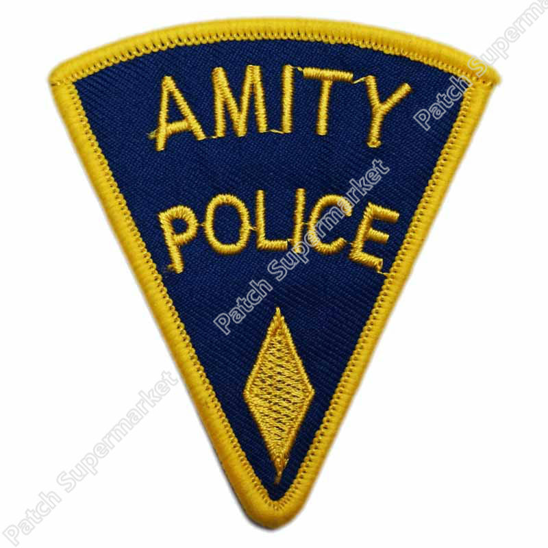 3 JAWS SHERIFF BRODY Amity Island Movie TV Uniform Embroidered LOGO Iron On Patch Emo Goth