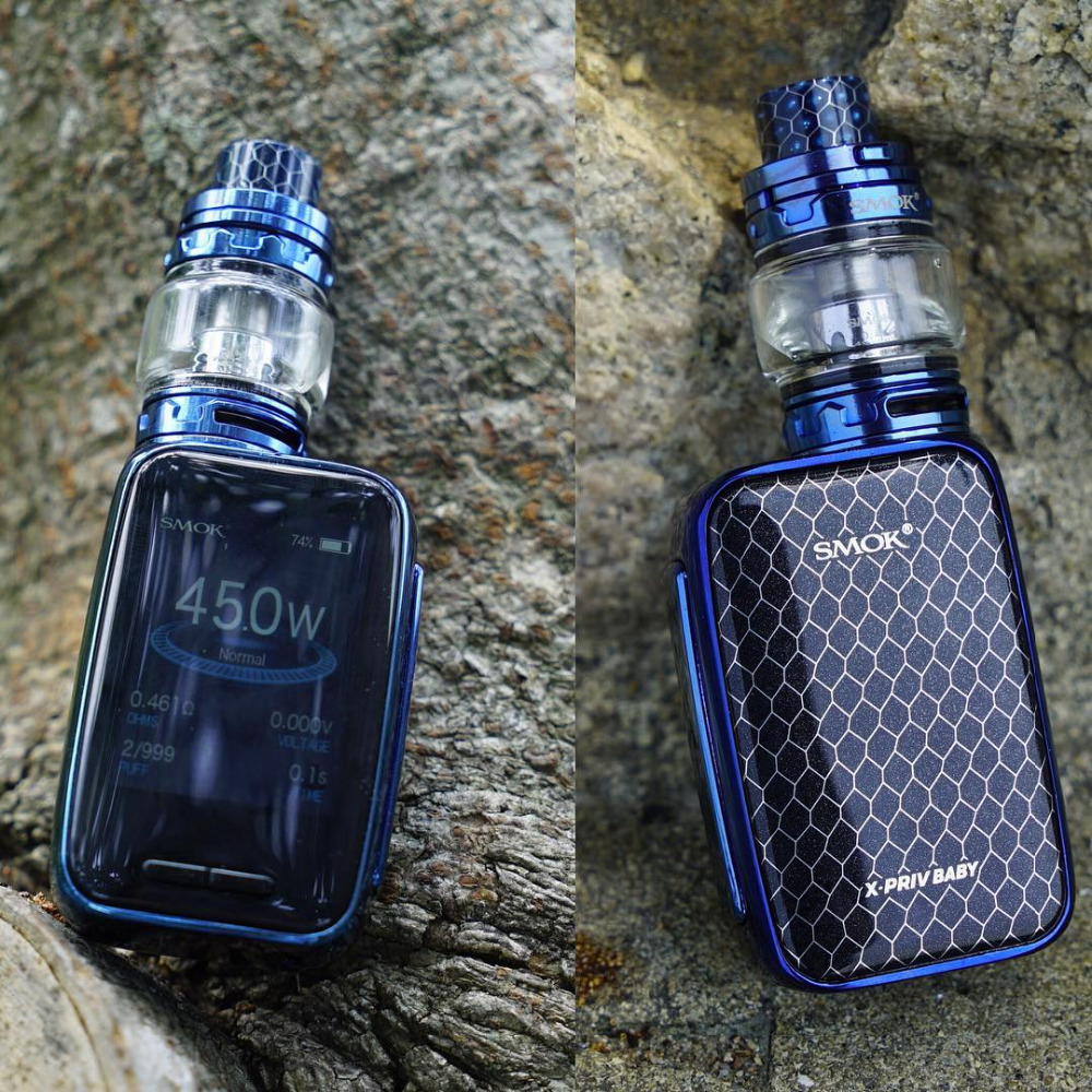 Origina SMOK X-PRIV Baby Kit 80W X Priv Mod Built-in 2300mAh Battery & TFV12 Big Baby Prince Tank Electronic Cigarette Vape Kit