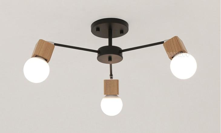 UTB86vtfBgQydeJk43PUq6AyQpXaF Nordic iron wood ceiling Light Modern home Living Room Bedroom aisle LED Ceiling Lamp Luminaire Lampara Techo