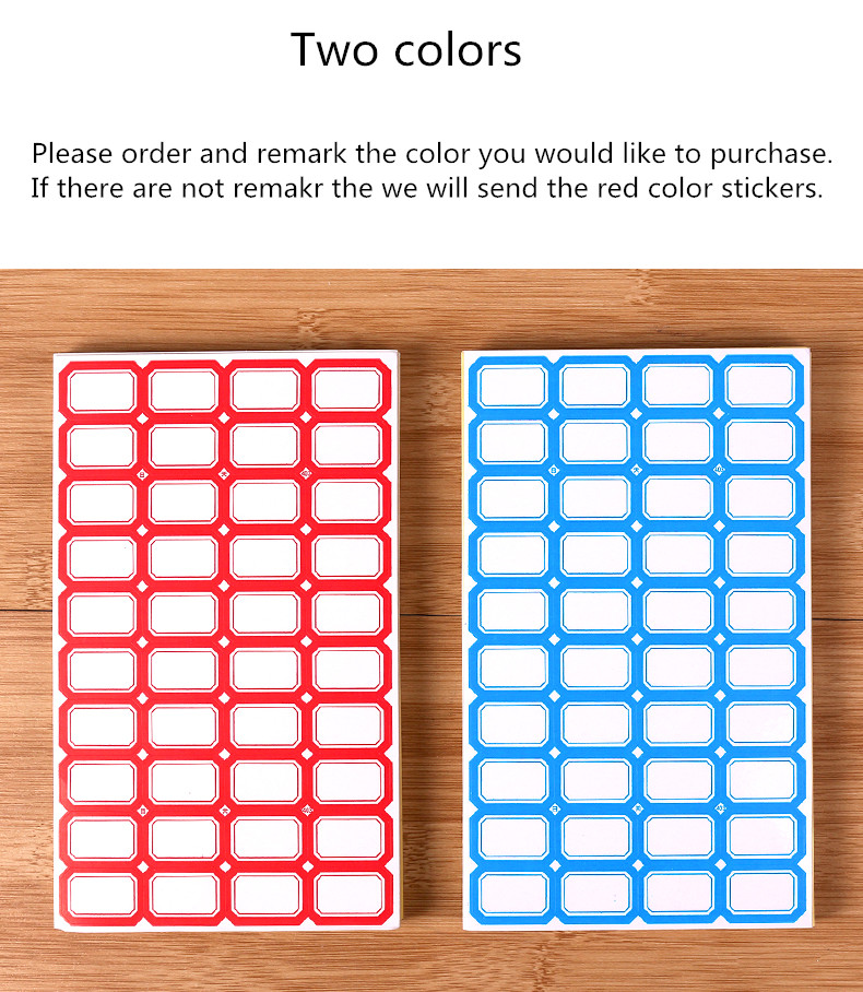Купить с кэшбэком Free shipping Labeling Sticker Packs Stationery Labels White Label Blank Stickers self handwriting mark note tag price sticker