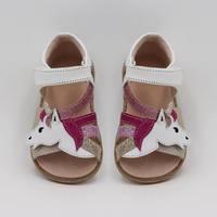 TipsieToes Top Brand Unicorns Soft Leather In Summer New Girls Children Barefoot Shoes Kids Sandals