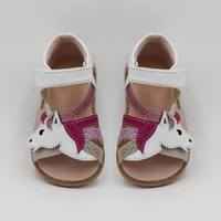 TipsieToes Top Brand Unicorns Soft Leather In Summer New Girls Children Barefoot Shoes Kids Sandals