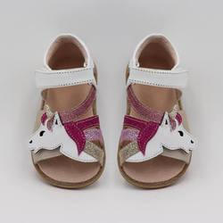 673ffca3b209b TipsieToes Top marque licornes en cuir souple en été nouvelles filles  enfants pieds nus chaussures enfants